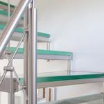 Edelstahl- Glastreppe