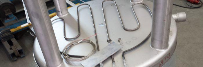 Behälter aus Edelstahl mit Temperatursteuerung